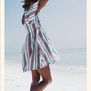 Madewell Festival Stripe Mini Dress NWT